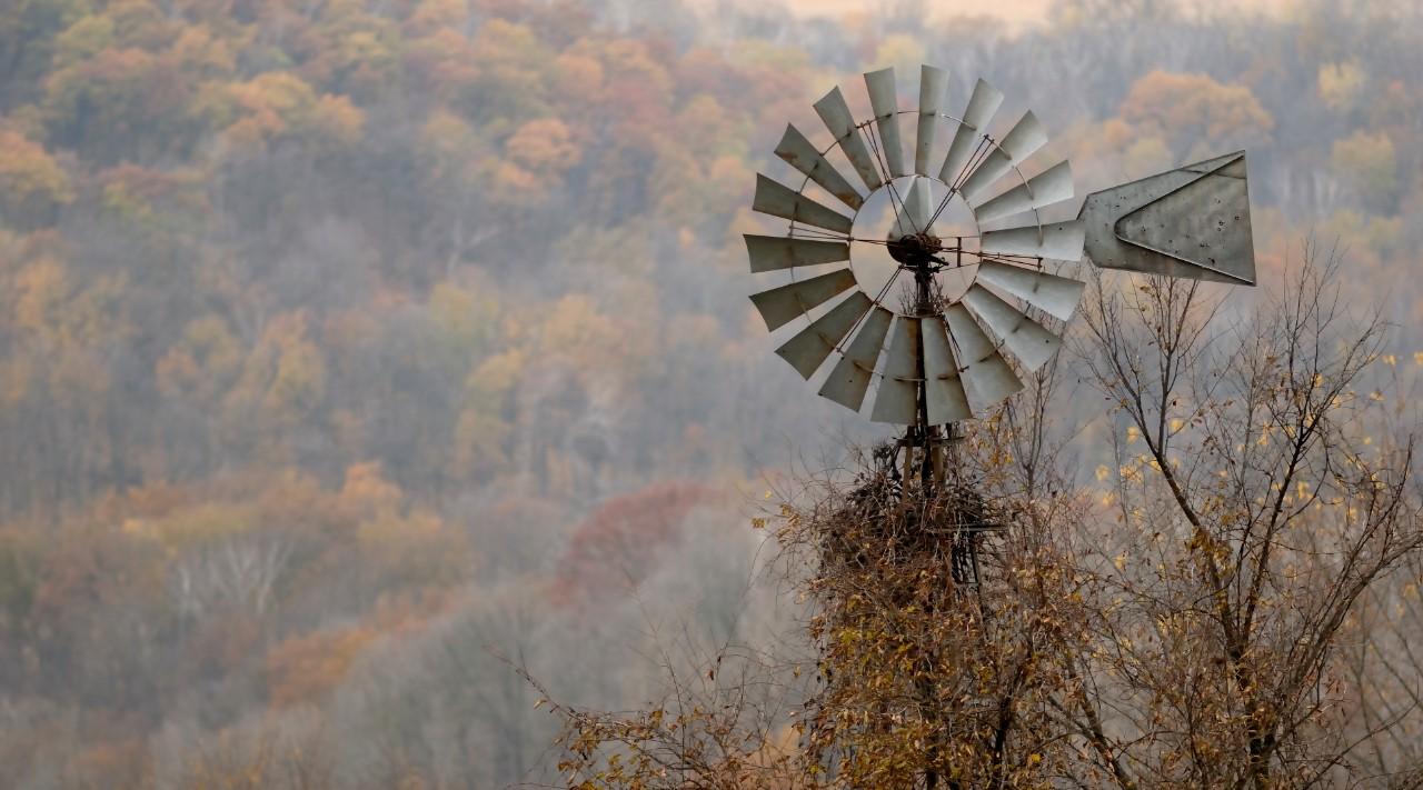 windmill in fall